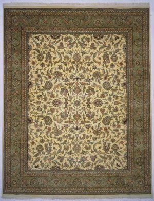 Lotfy and Sons Narmada 320 Ivory-Light Green Area Rug