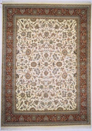 Lotfy and Sons Narmada 320 Ivory-Red Area Rug