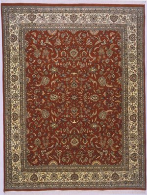 Lotfy and Sons Narmada 320 Red-Ivory Area Rug - 136776