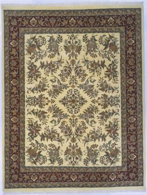 Lotfy and Sons Narmada 400 Ivory-Burgundy Area Rug