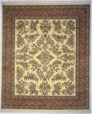 Lotfy and Sons Narmada 400 Ivory-Rose Area Rug