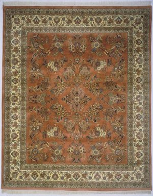 Lotfy and Sons Narmada 400 Light Rose-Ivory Area Rug