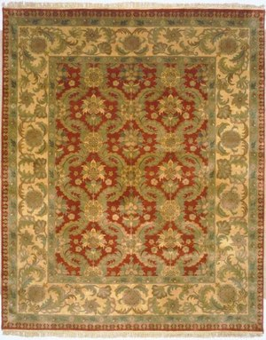 Lotfy and Sons Majestic Lsn-13 Red-Gold Area Rug