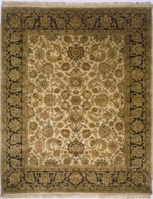 Lotfy and Sons Majestic Ma-16 Beige-Black Area Rug