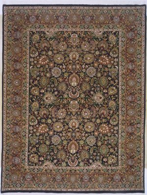 Lotfy and Sons Prestige Mashad Dark Blue-Red Area Rug