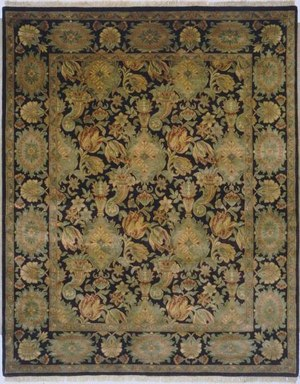 Lotfy and Sons Majestic Scc-1 Black-Black Area Rug