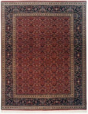 Lotfy and Sons Prestige Tabriz Heraty Red-Navy Area Rug