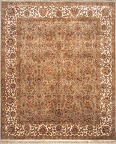 Lotfy and Sons Majestic 205 Light Green-Ivory Area Rug