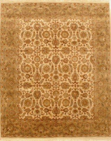 Lotfy and Sons Majestic 205 Cream-Light Green Area Rug - 17385