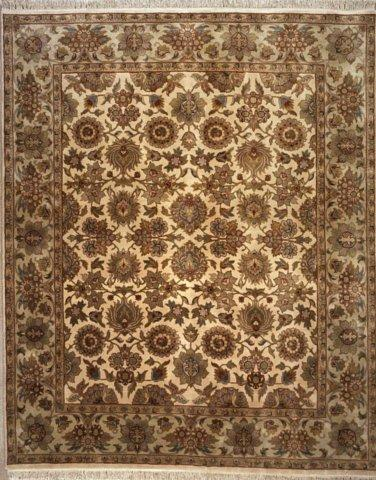 Lotfy and Sons Majestic S-19 Cream-Light Green Area Rug