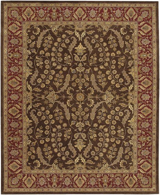 Rugstudio Famous Maker 39910 Brown-Red Area Rug Last Chance