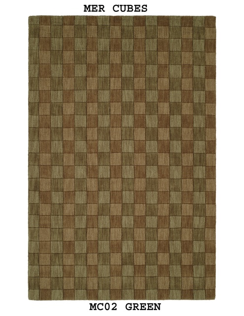 MER Cubes MC02 Green Area Rug Last Chance| Size| 3' 6'' X 5' 6'' - 18956x2