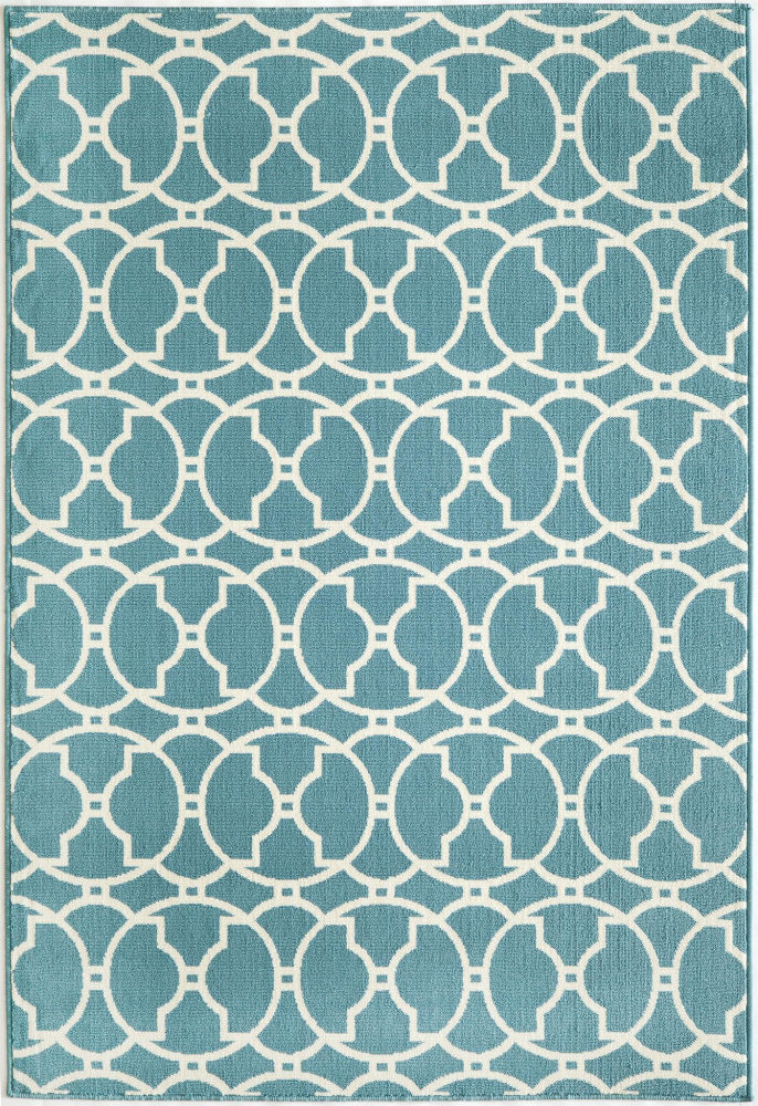 Momeni Baja Baj11 Blue Area Rug| Size| 2'3'' x 7'6'' Runner with Free Pad - 161022x3