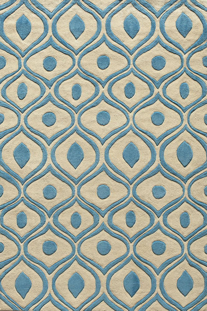 Momeni Bliss Bs-09 Blue Area Rug| Size| 2' x 3' with Free Pad - 161058x1