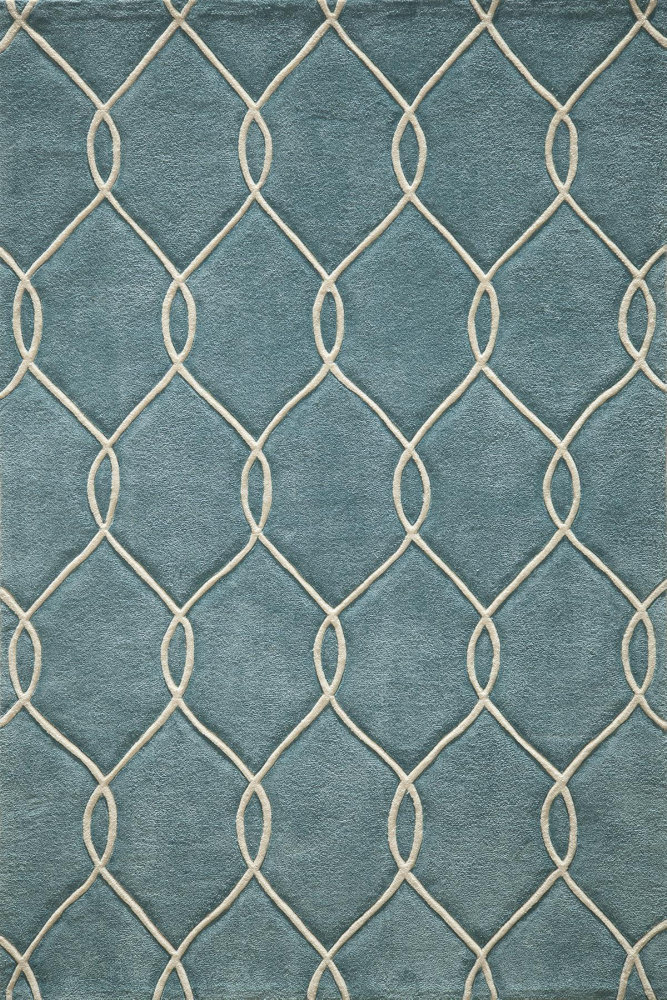 Momeni Bliss Bs-12 Teal Area Rug| Size| 2' x 3' with Free Pad - 161070x1