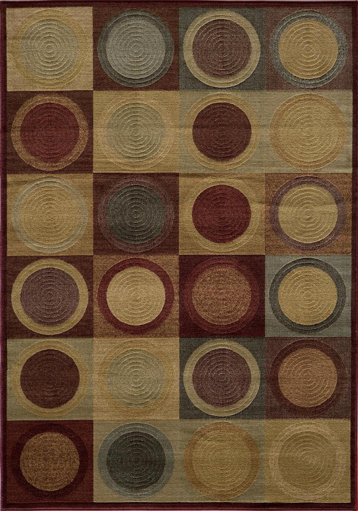 Momeni Dream Dr-06 Red Area Rug| Size| 2' x 3' with Free Pad - 161167x1