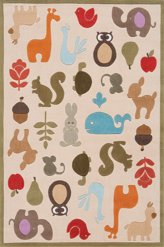 Momeni Lil Mo Whimsy Lmj-2 Ivory Area Rug| Size| 2' x 3' with Free Pad - 161351x1