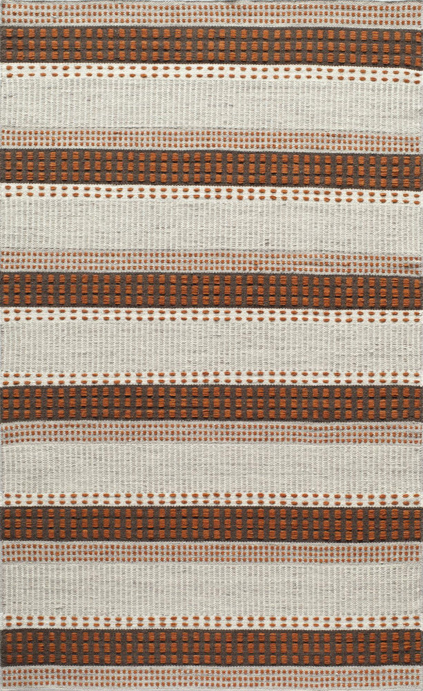 Momeni Mesa Mes12 Rust Area Rug| Size| 2' x 3' with Free Pad - 161449x1