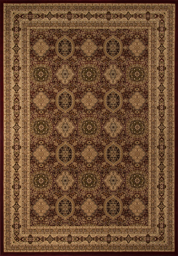 Momeni Royal Ry-01 Red Area Rug| Size| 2' x 3'3'' with Free Pad - 161631x2