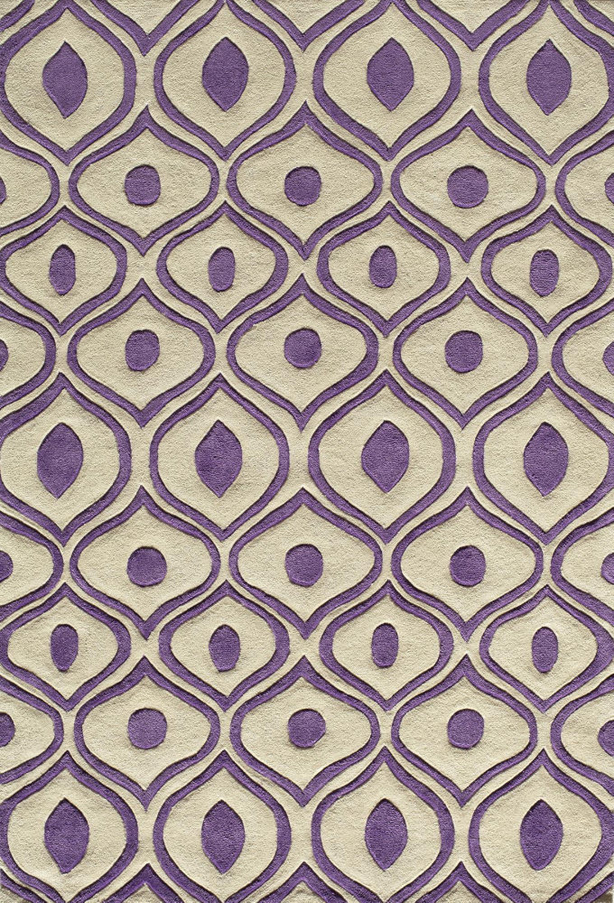 Momeni Bliss Bs-09 Purple Area Rug Clearance| Size| 5' x 7'6'' with Free Pad - 161849x2
