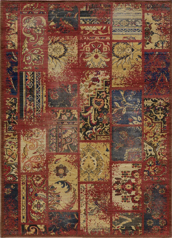 Momeni Vintage Vin-7 Raspberry Area Rug Clearance| Size| 1'9'' x 2'9'' with Free Pad - 162601x1