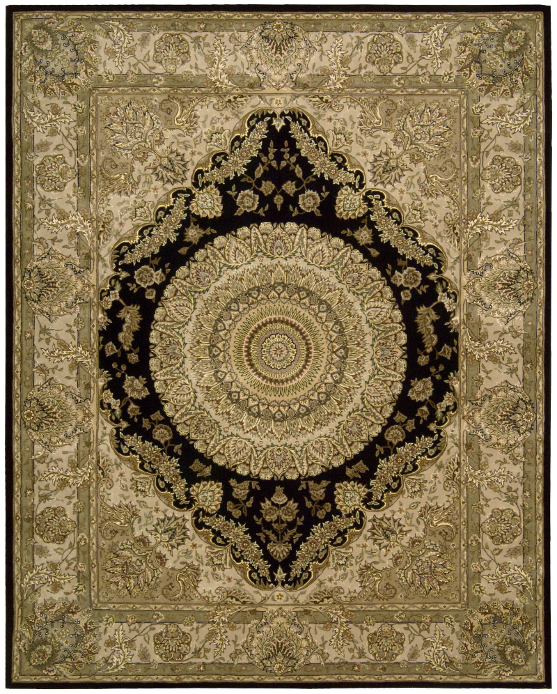 Nourison 2000 2233 Black Area Rug| Size| 2' x 3' with Free Pad - 29224x1
