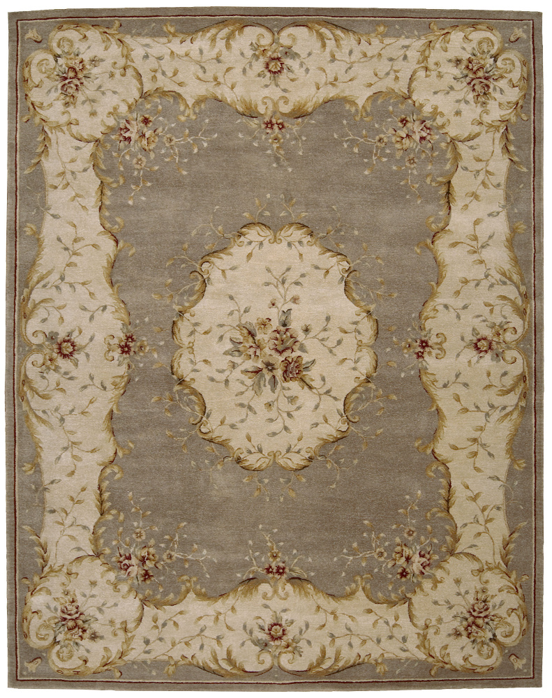 Nourison Heritage Savonnerie HS-04 Coffee Area Rug Clearance| Size| 6' Free-Form - 23121x8