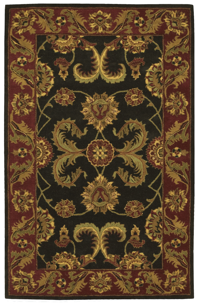 Nourison India House IH-04 Black Area Rug| Size| 2'3''X7'6'' Runner - 23126x2