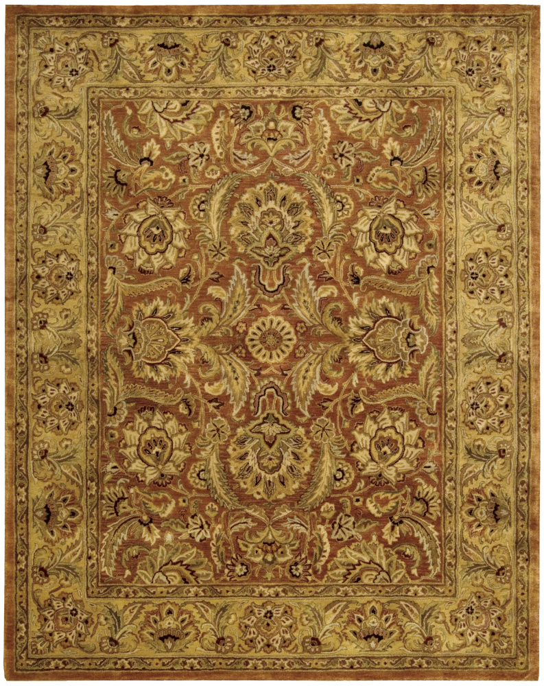 Nourison Jaipur JA-29 Rust Area Rug| Size| 2' 4'' X 8' Runner with Free Pad - 27853x1