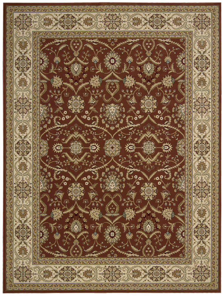 Nourison Persian Crown Pc001 Brick Area Rug| Size| 1'11'' x 2'11'' - 95669x1