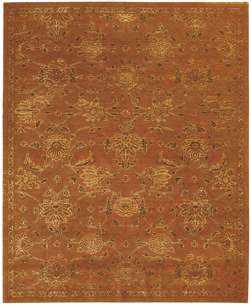 Nourison Silk Infusion Sif01 Copper Area Rug| Size| 2'6''x10' Runner - 108318x1