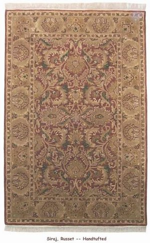 ORG Handtufted Siraj Russet Area Rug Last Chance