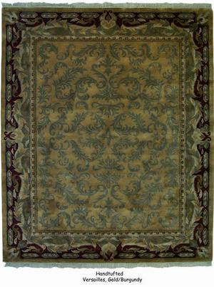 ORG Handtufted Versailles Gold-Burgundy Area Rug Last Chance| Size| 4' Square - 136973x6