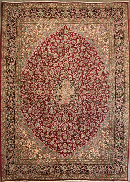 ORG Kerman Medallion Floral Red-Black Area Rug Last Chance| Size| 9' 9'' X 13' 1'' - 42568x1