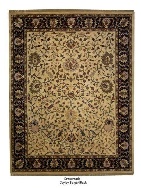 ORG Crossroads Cayley Cream-Black Area Rug Last Chance| Size| 2' X 3' - 8834