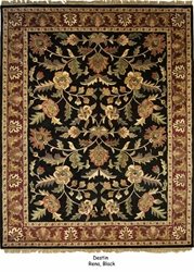 Org Destin Rena Black-burgundy Area Rug Last Chance