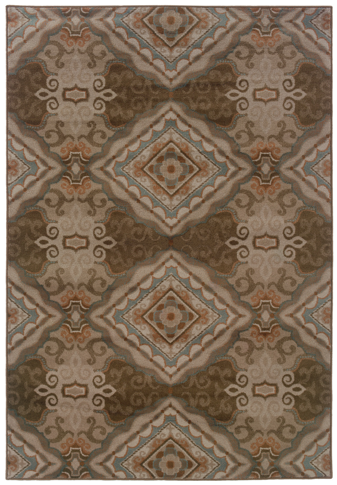 Oriental Weavers Adrienne 3840e Area Rug| Size| 1' 10'' X 3' 3'' with Free Pad - 85615x1