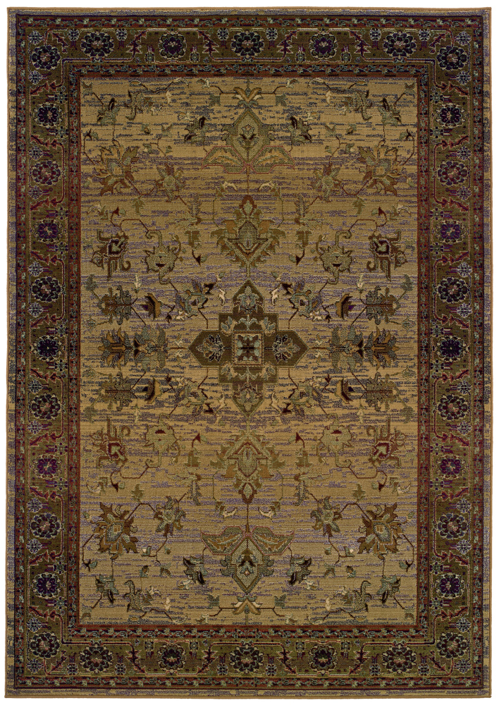 Oriental Weavers Kharma 836Y1 Area Rug| Size| 2' X 3' with Free Pad - 19441x1
