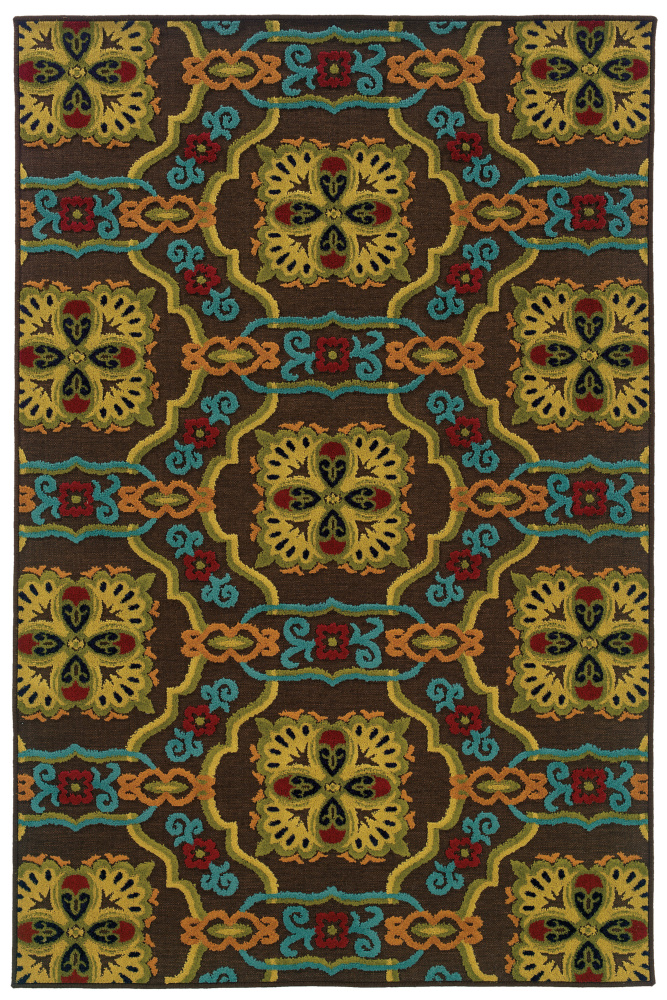 Oriental Weavers Lagos 532d1 Brown Area Rug| Size| 2'3''X7'6'' Runner with Free Pad - 85666x2