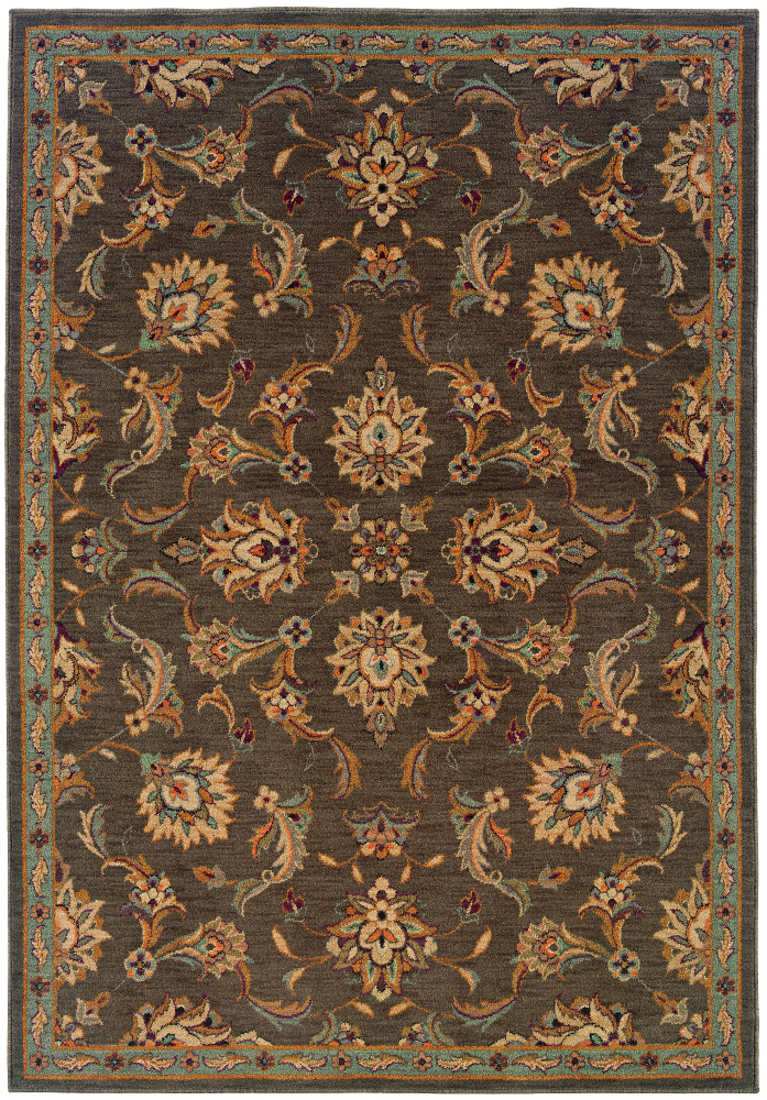 Oriental Weavers Salerno 2838d Area Rug| Size| 3' 10'' X 5' 5'' with Free Pad - 64873x3