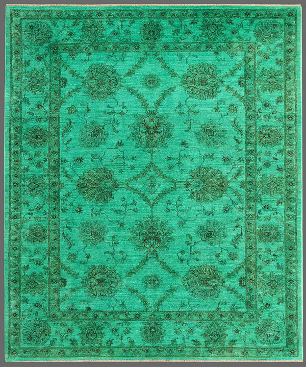 Rugstudio Overdyed 449467-616 Green Area Rug| Size| 5' 8'' x 7' - 72715x1