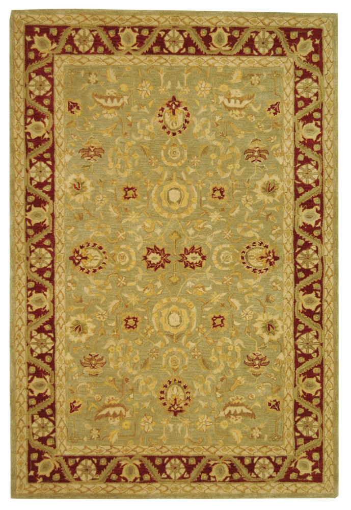 Safavieh Anatolia AN548A Light Green - Red Area Rug Clearance| Size| 4' X 4' Round - 49609X6