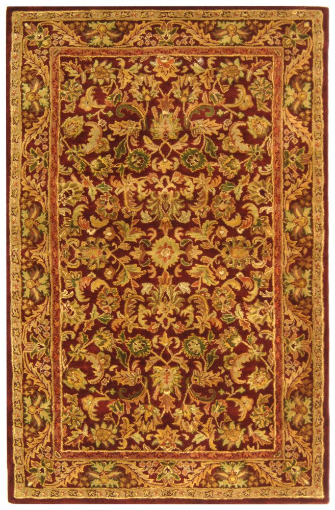 Safavieh Antiquities AT52B Wine - Gold Area Rug Clearance| Size| 2' X 3' - 49642X2