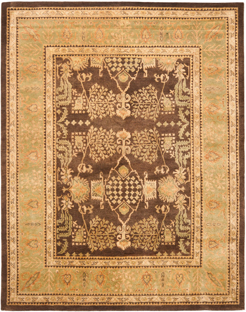 Safavieh Bergama BRG190B Brown - Green Area Rug| Size| 2'3''X8' Runner - 46325X4