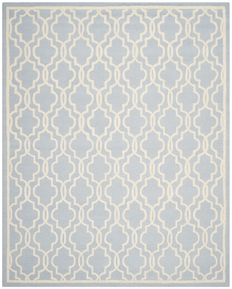 Safavieh Cambridge Cam131a Light Blue - Ivory Area Rug| Size| 2'6''X6' Runner - 94100x4
