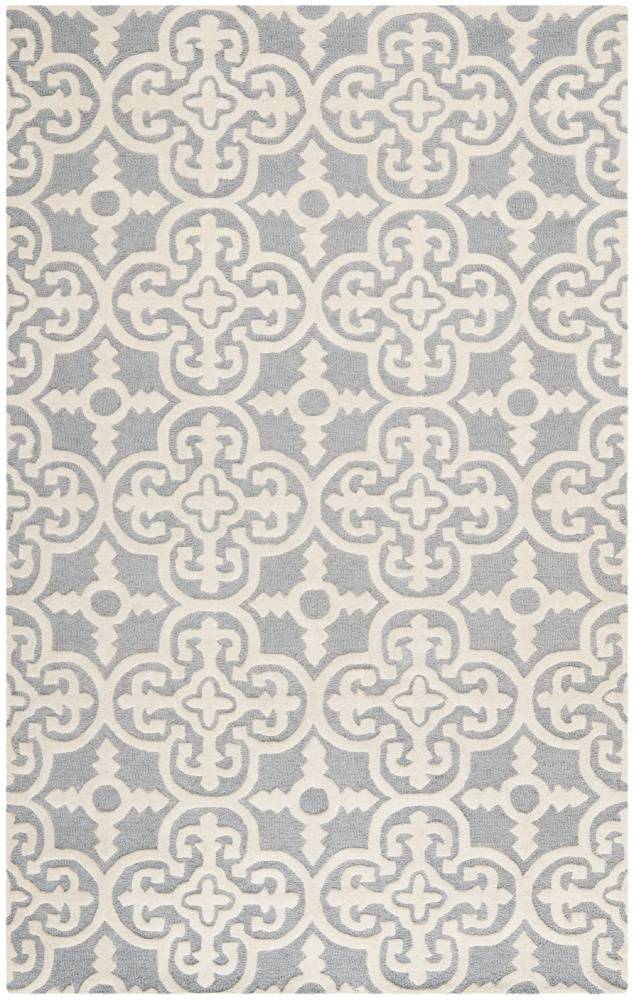 Safavieh Cambridge Cam133d Silver - Ivory Area Rug| Size| 2'6'' X 4' Runner - 94112x18
