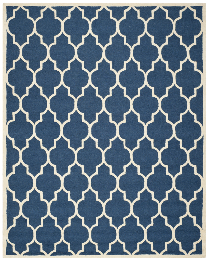 Safavieh Cambridge Cam134g Navy - Ivory Area Rug| Size| 2'6''X6' Runner - 94116x4