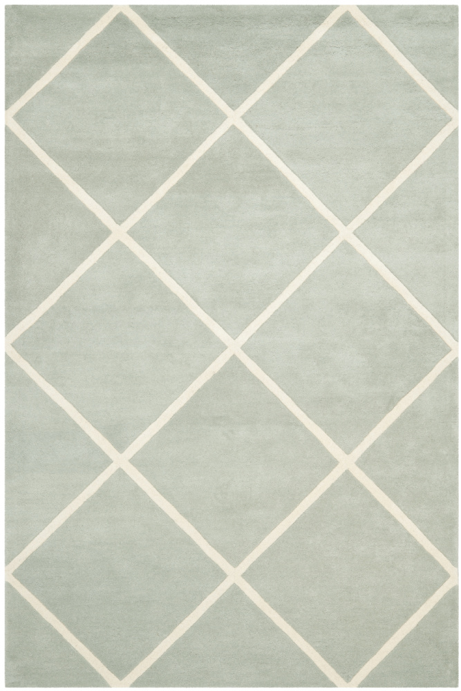 Safavieh Chatham Cht720e Grey - Ivory Area Rug| Size| 2' X 3' - 94193x1