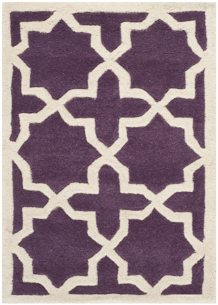 Safavieh Chatham Cht732f Purple - Ivory Area Rug| Size| 3' X 5' - 94222x5