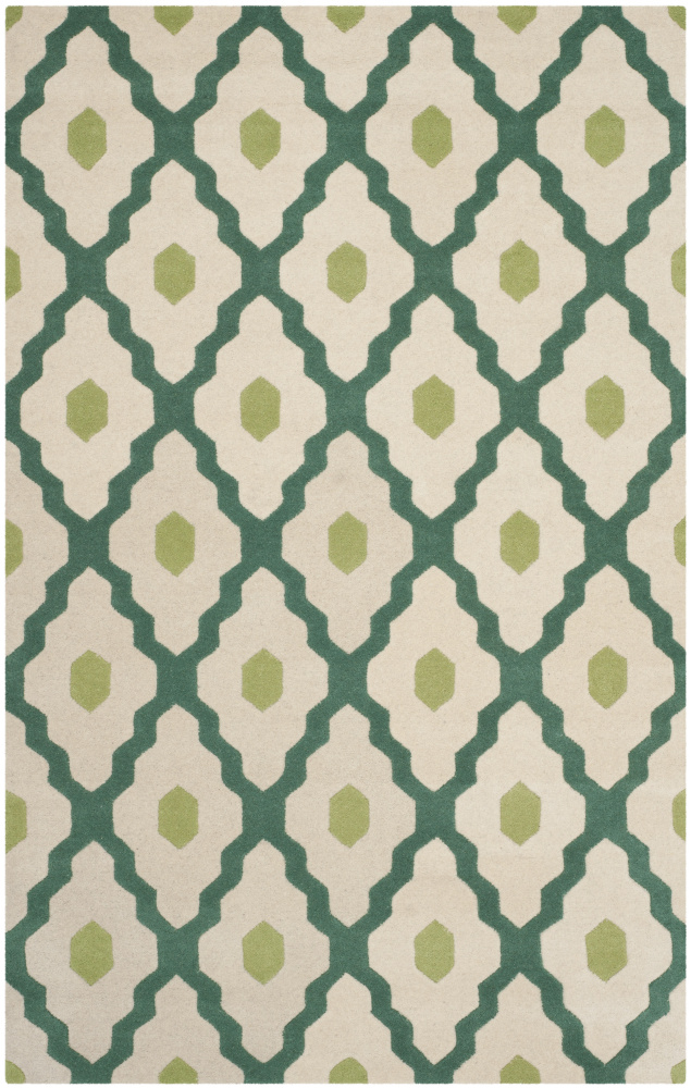Safavieh Chatham Cht748v Ivory - Teal Area Rug| Size| 2' X 3' - 107940x1